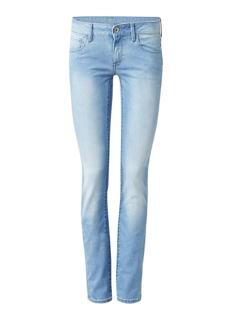 G-Star RAW 3301 mid rise skinny jeans met faded look L32