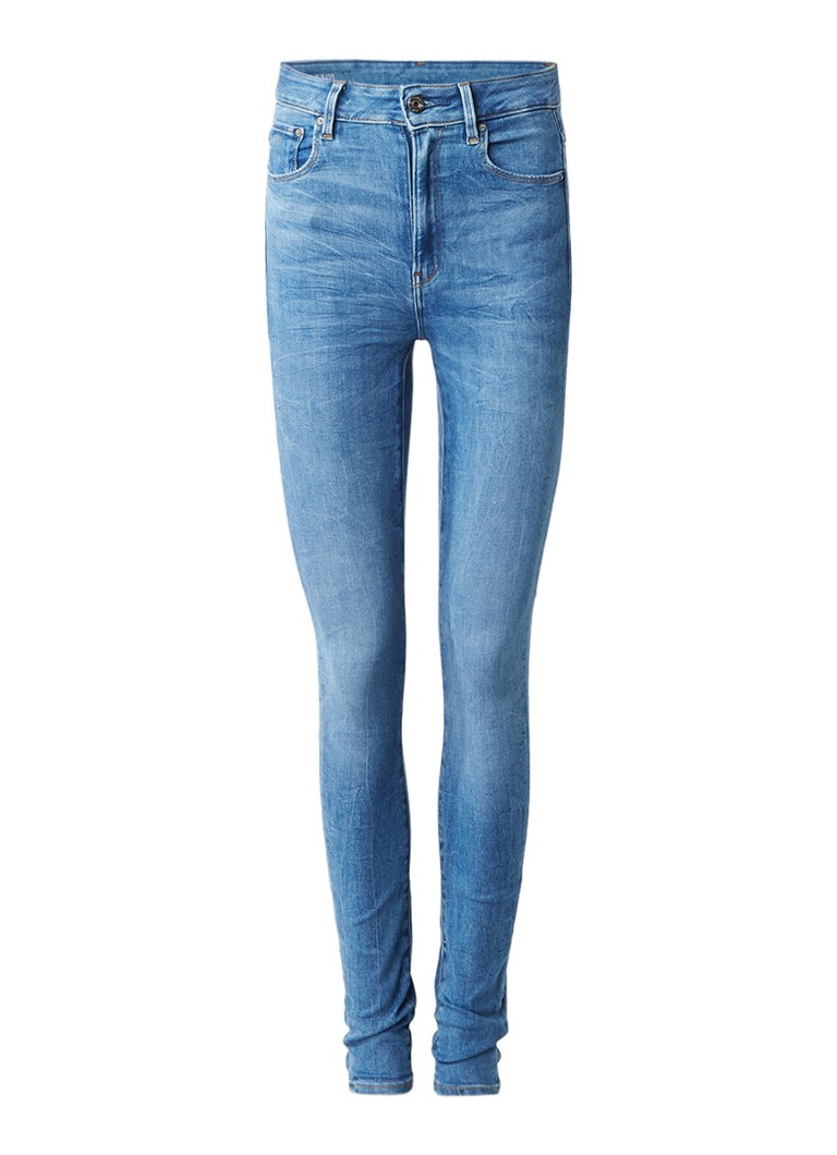 G-Star RAW 3301 Ultra high rise skinny jeans met subtiele acid wash
