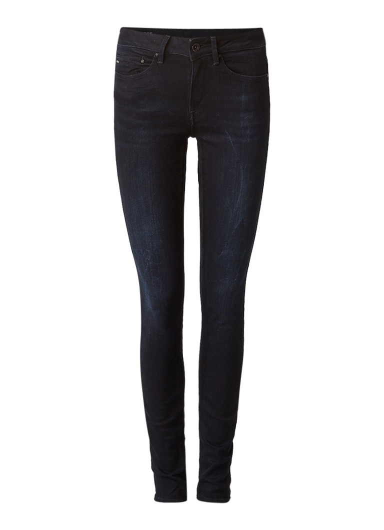 Jeans G Star RAW Midge mid rise skinny jeans met donkere wassing Donkerblauw