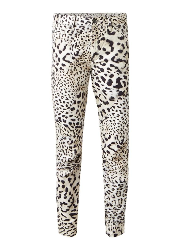G-Star RAW 5622 Elwood X25 3D slim fit jeans met luipaarddessin