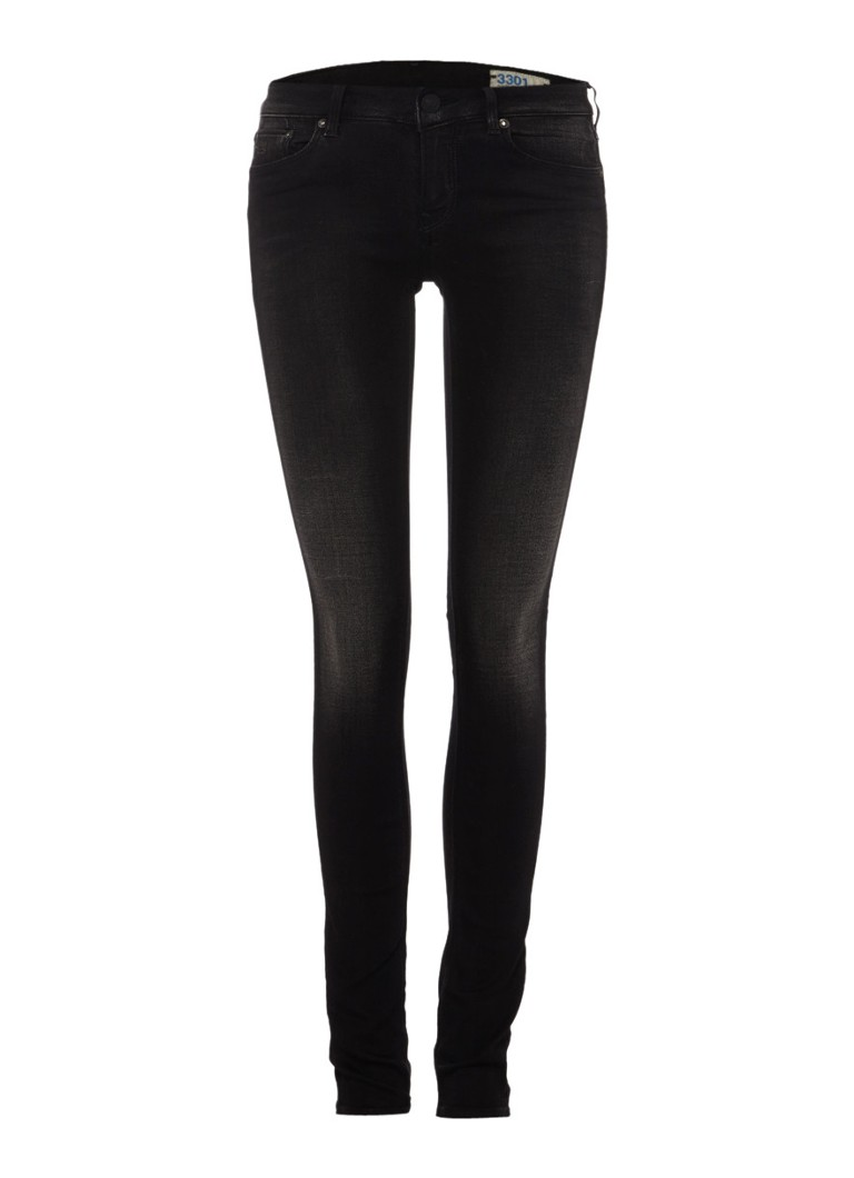G-Star RAW High skinny jeans 3301 Contour in zwart