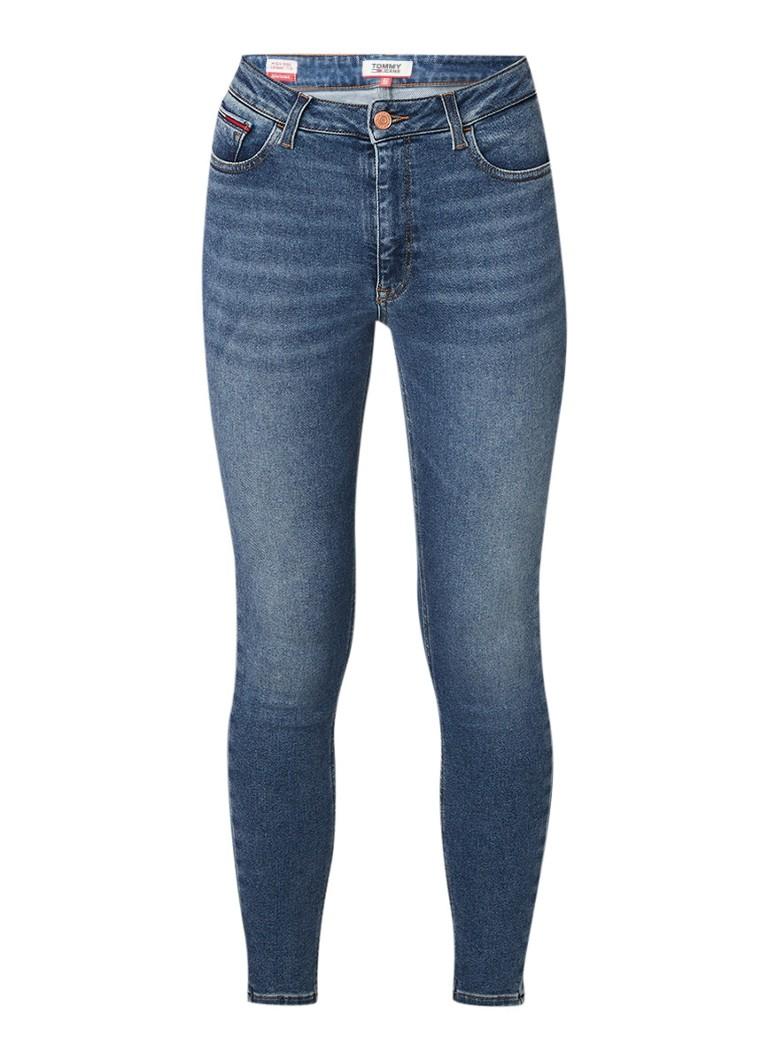 Image of Tommy Hilfiger Santana high rise cropped skinny jeans met medium wassing
