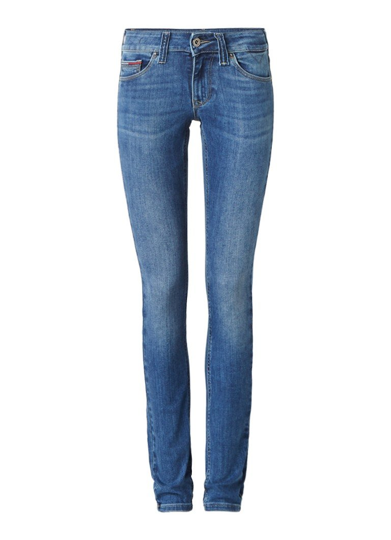 Tommy Hilfiger Sophie low rise skinny jeans met medium wassing