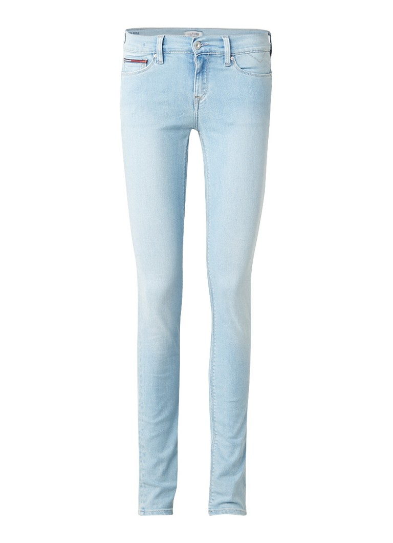 Tommy Hilfiger Nora mid rise skinny jeans met lichte wassing