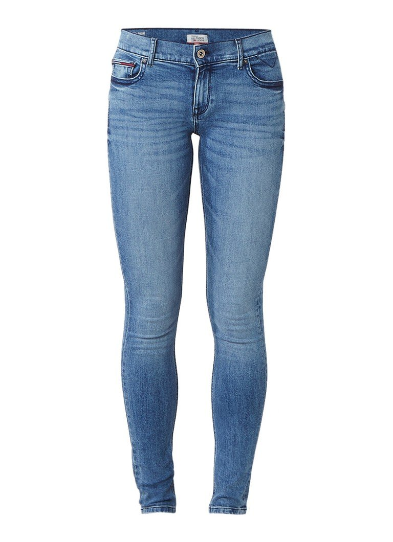 Tommy Hilfiger Nora mid rise skinny fit jeans met stretch