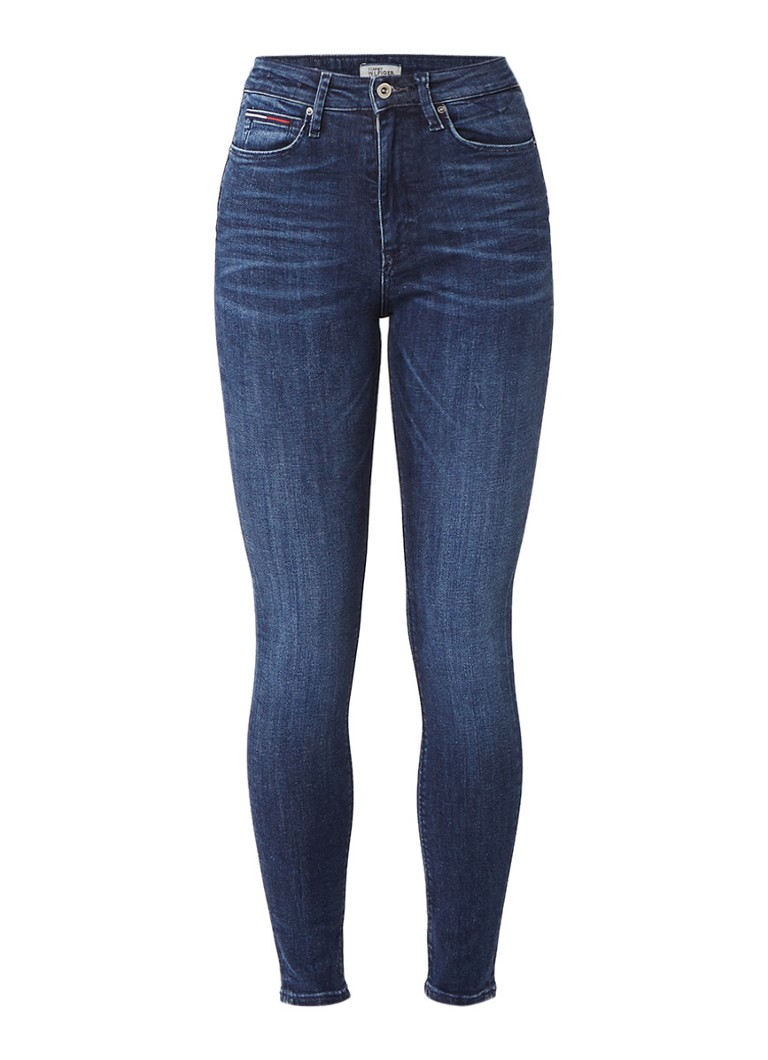 Tommy Hilfiger High rise skinny fit jeans met dynamic stretch