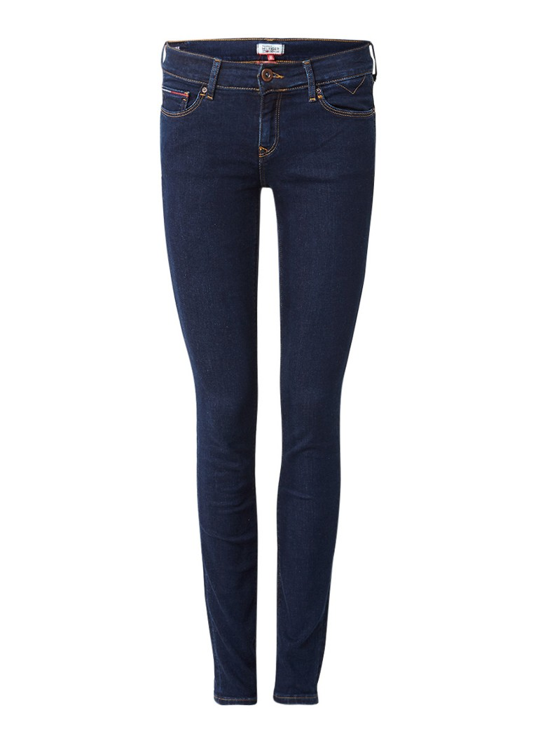 Tommy Hilfiger Nora mid rise skinny jeans met donkere wassing
