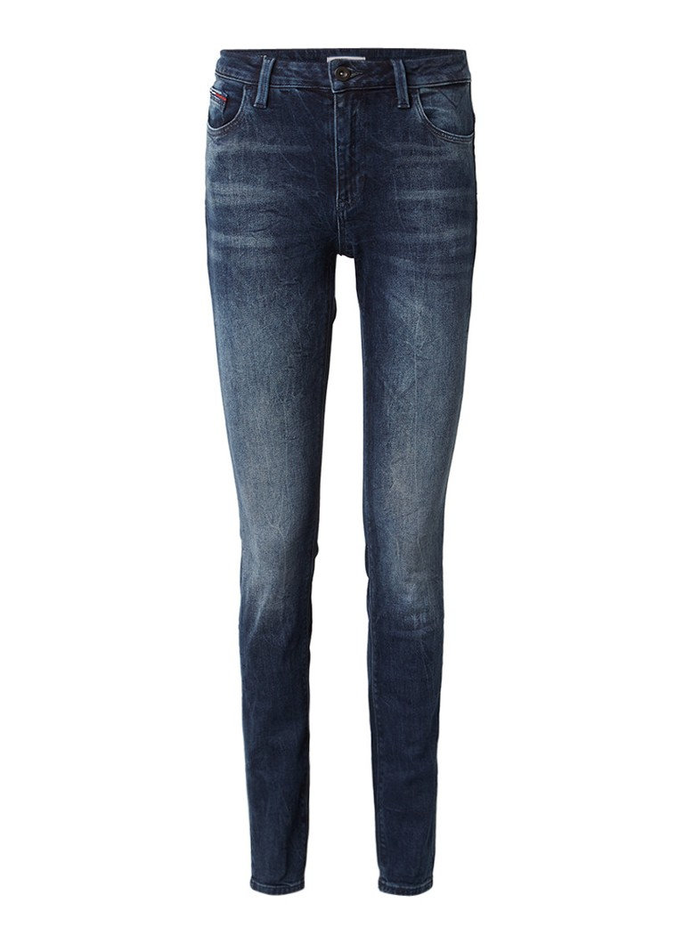 Tommy Hilfiger Santana high rise skinny jeans met faded look