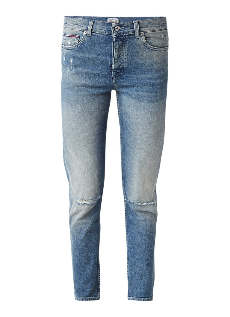 Tommy Hilfiger High rise slim fit jeans met destroyed look