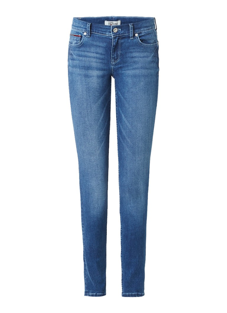 Tommy Hilfiger Mid rise skinny jeans met medium wassing