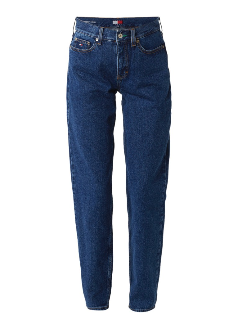 Tommy Hilfiger High waist classic mom jeans met donkere wassing