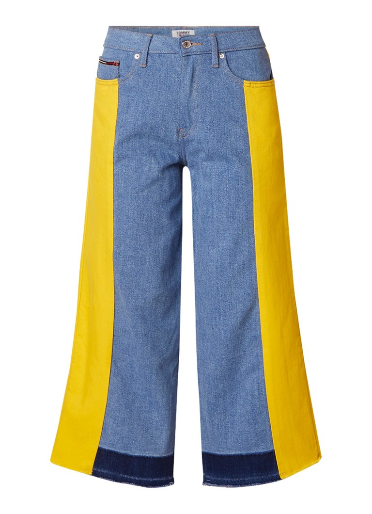 Tommy Hilfiger Annie cropped culotte jeans met colour blocking