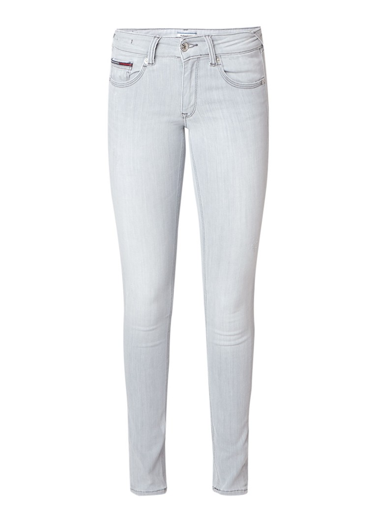 Tommy Hilfiger Low rise skinny jeans met lichte wassing