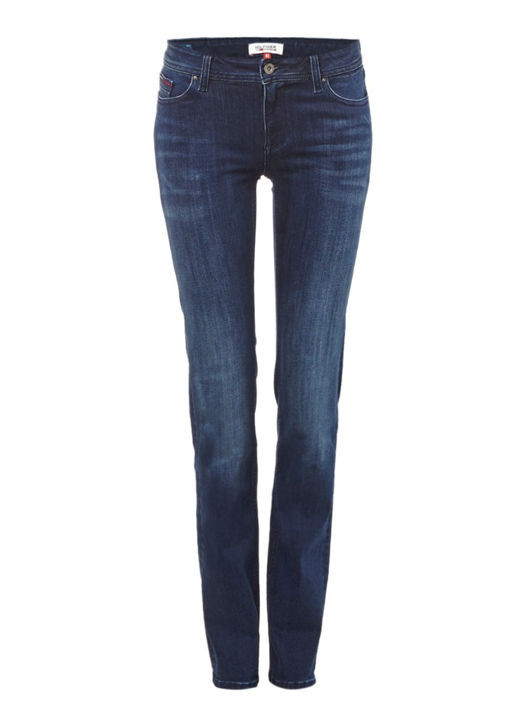 Tommy Hilfiger Sandy mid rise straight fit jeans met faded look