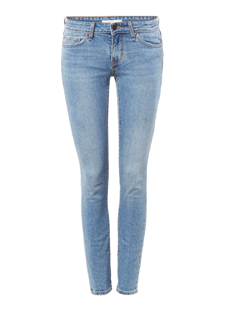 Levi's 711 Low rise skinny jeans met lichte wassing