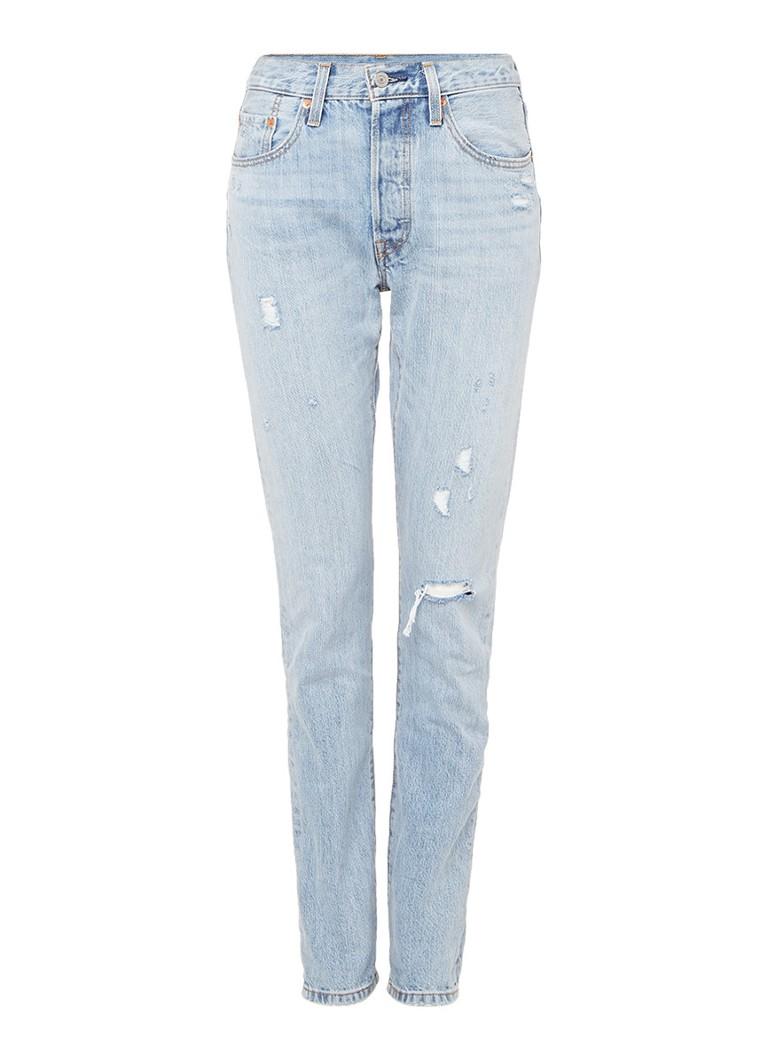 Levi's 501 Skinny Filiforme high rise destroyed jeans