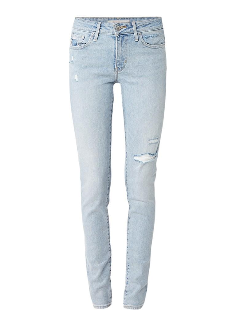 Levi's 711 Skinny jeans Let's Run met destroyed details