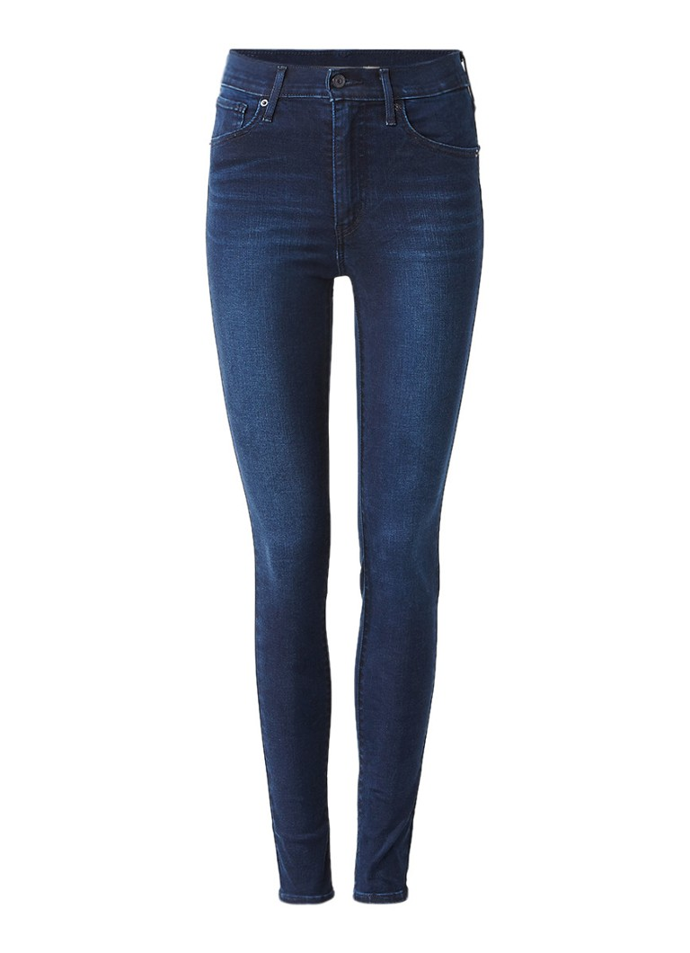 Levi's Mile high super skinny jeans met donkere wassing