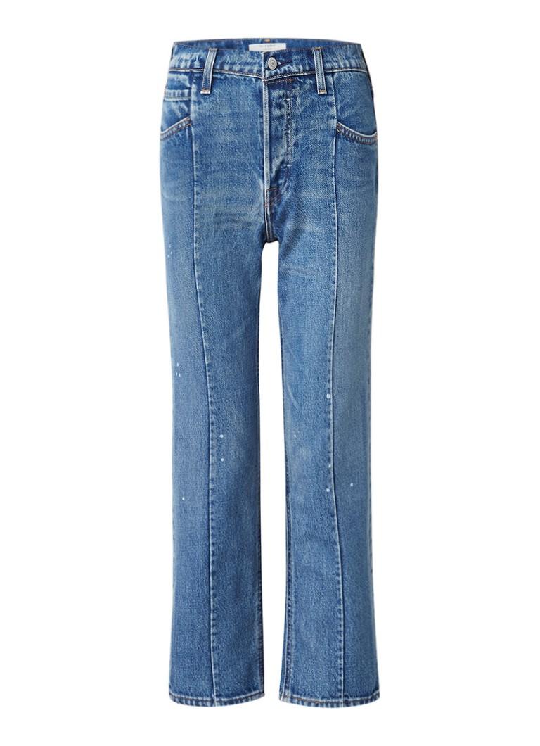 Levi's High rise straight fit jeans met deelnaad