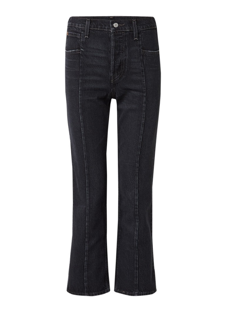 Jeans Levi s High rise straight fit jeans met deelnaad Zwart