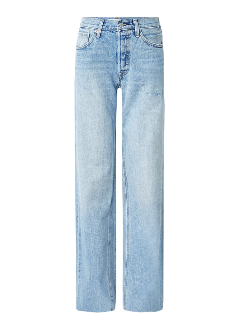 Levi's High rise flared fit jeans met destroyed details
