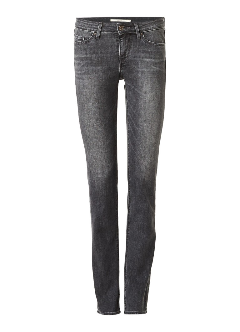 Levi's 712 mid rise slim fit jeans met faded look