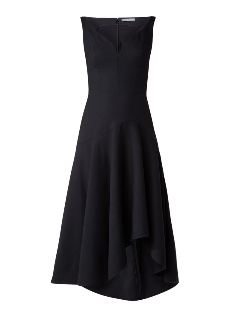 Alexander McQueen Asymmetrische A-lijn jurk in wolblend