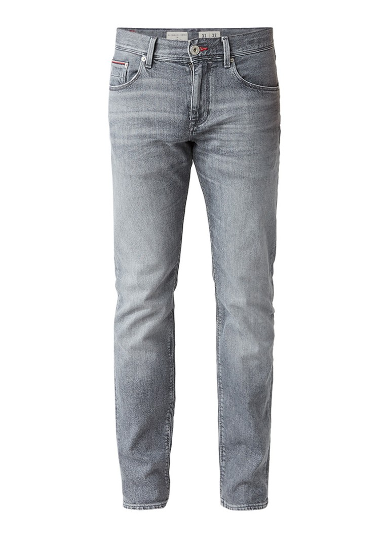 Tommy Hilfiger Bleecker mid rise slim fit jeans met faded look