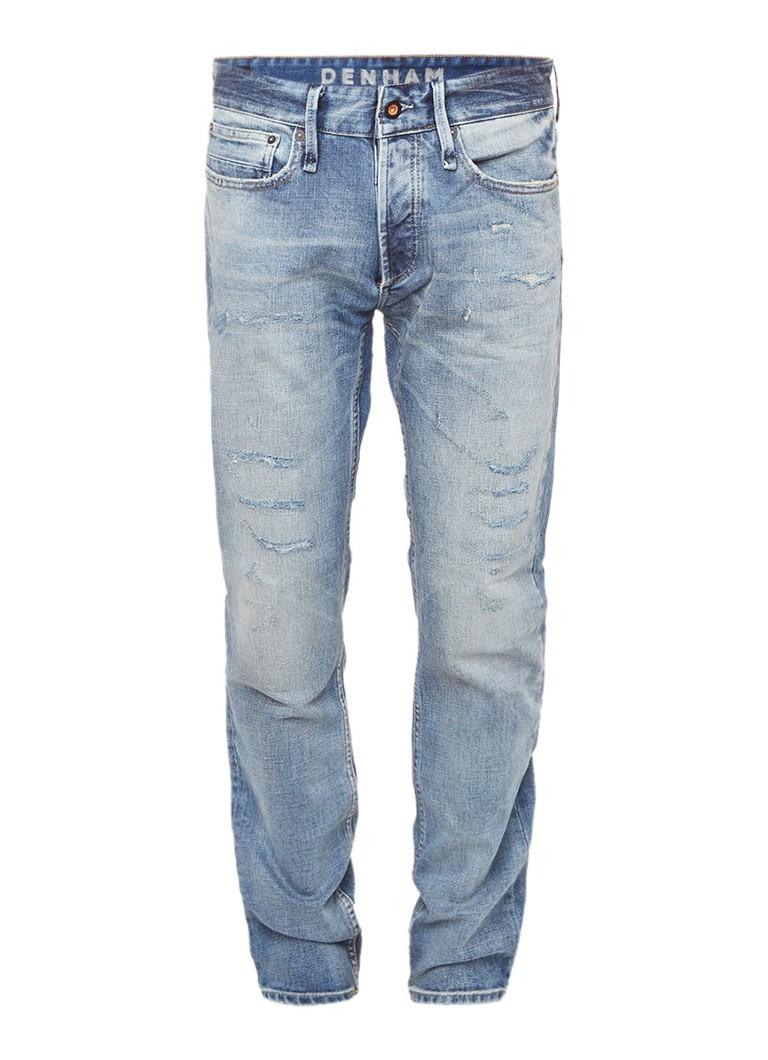 Denham Razor slim fit jeans met destroyed look