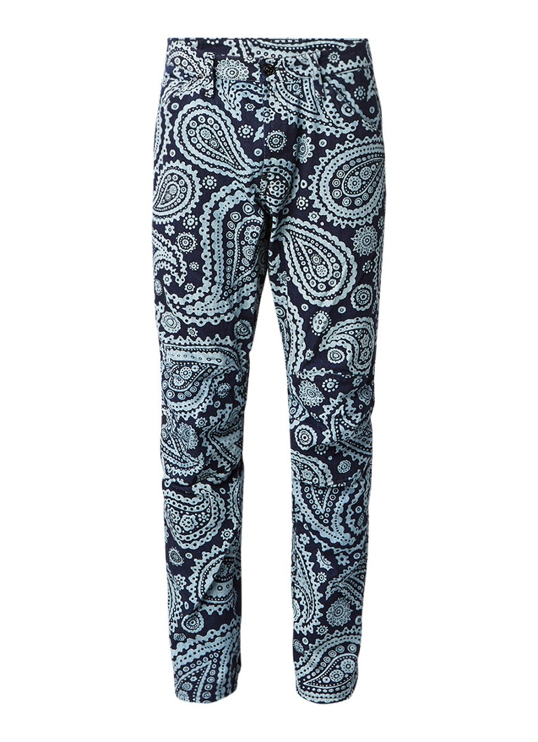G-Star RAW 5622 Elwood X25 3D tapered fit jeans met paisley dessin
