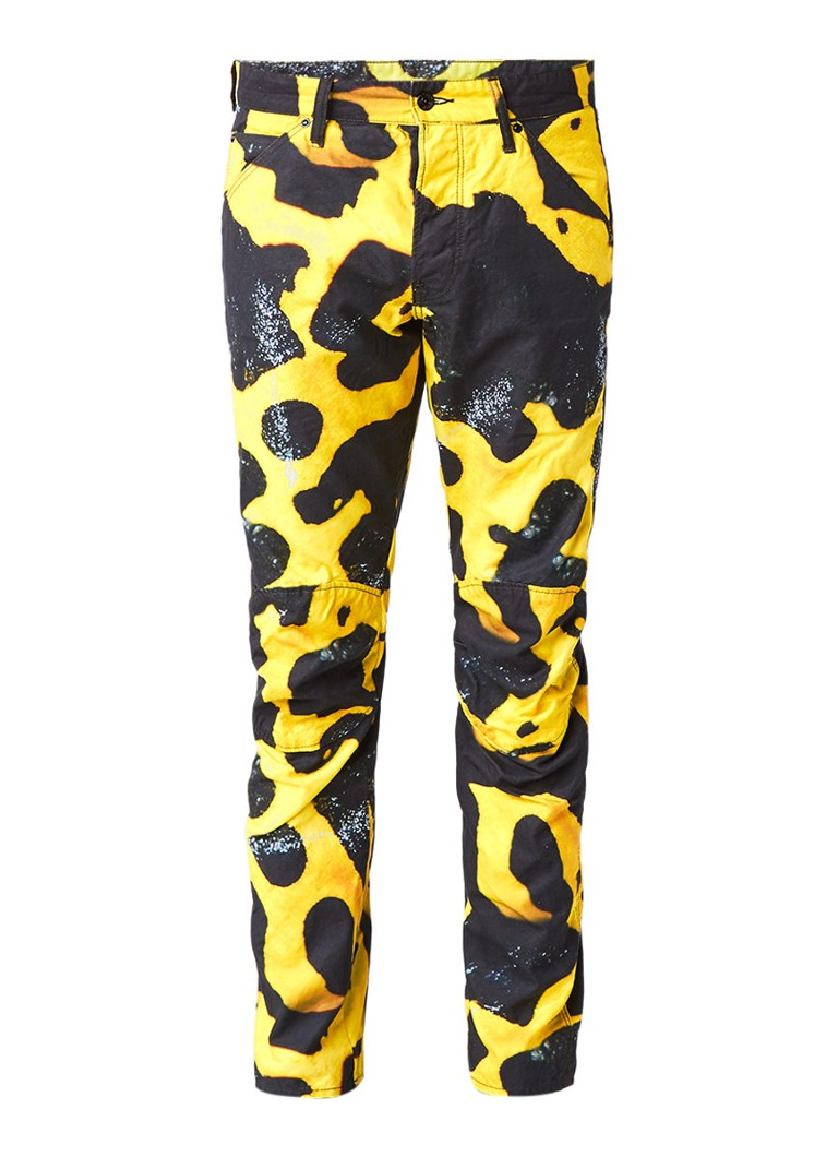 G-Star RAW 5622 Elwood X25 3D Poison Frog tapered fit jeans met abstract dessin
