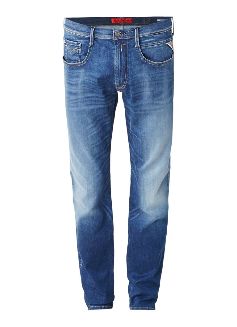 Replay Anbass mid rise slim fit jeans met hyperflex