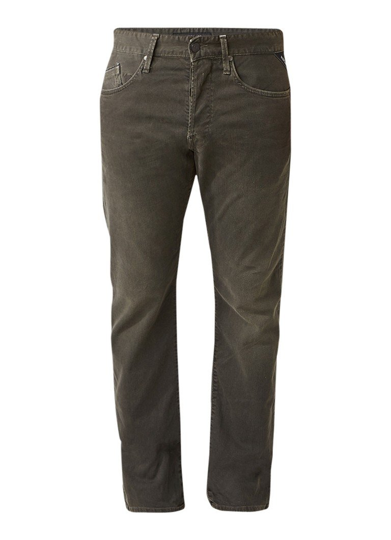 Replay Waitom slim fit jeans in gekleurde wassing
