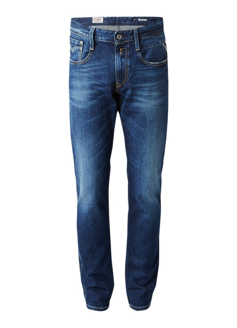 Replay Anbass slim fit jeans met faded look