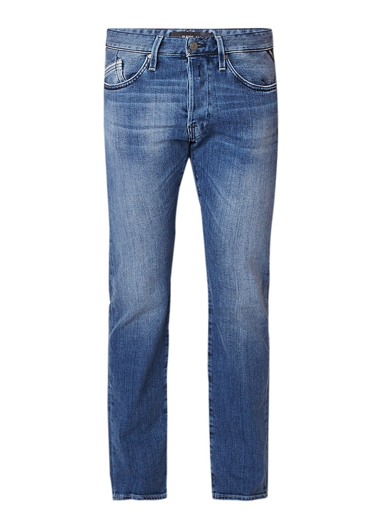 Replay Waitom mid wash straight fit jeans