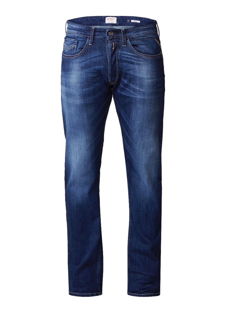 Replay Newbill regular fit jeans met medium wassing