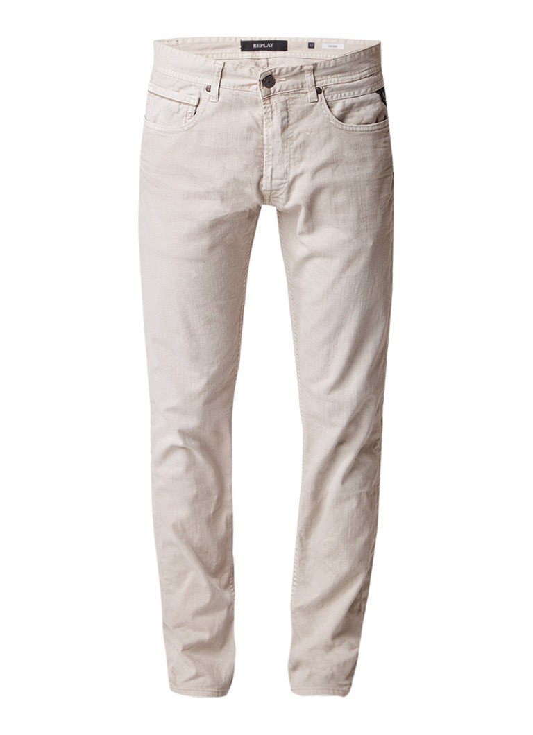 Replay Grover mid rise slim fit jeans met stretch