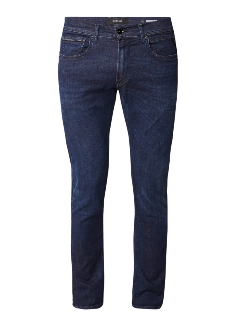Replay Grover Hyperflex mid rise straight fit jeans