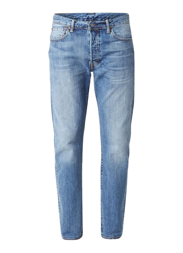 Levi's 501 straight fit jeans met medium wassing