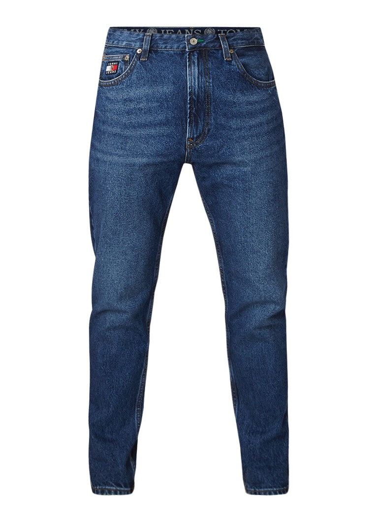 Image of Tommy Hilfiger Dad straight fit jeans met logopatch