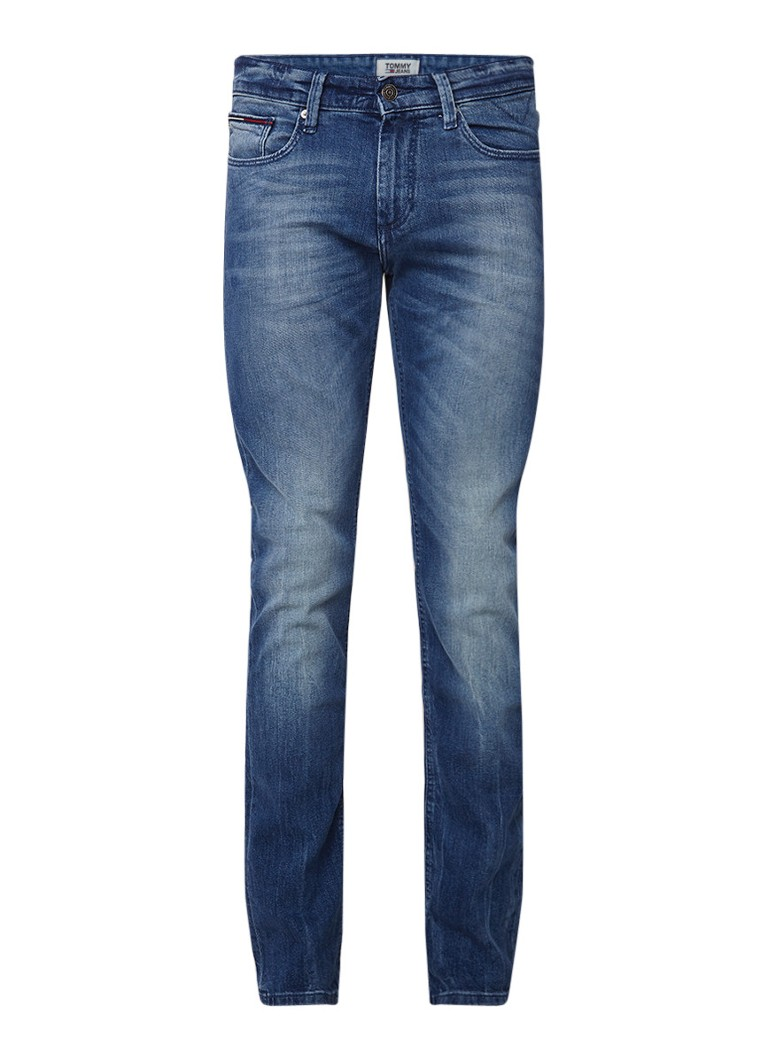 Tommy Hilfiger Scanton low rise slim fit jeans met faded look