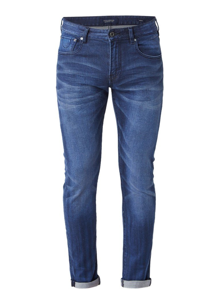 Scotch and Soda Skim slim fit jeans met faded look
