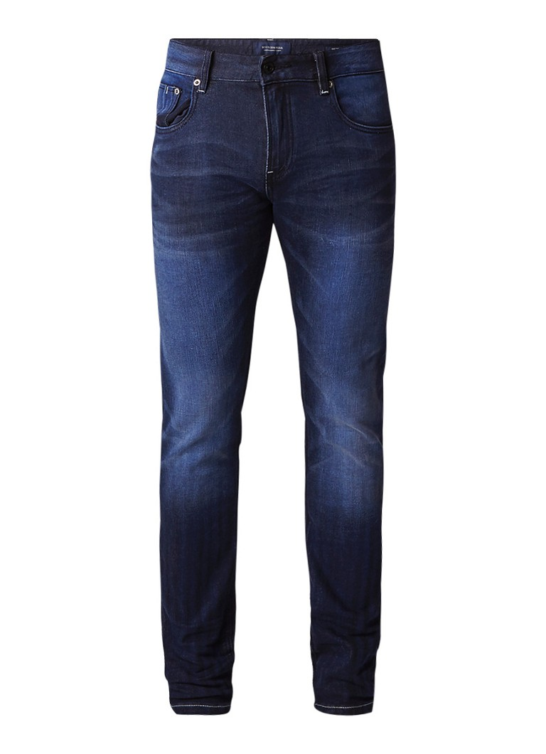 Scotch and Soda Skim skinny jeans met faded look