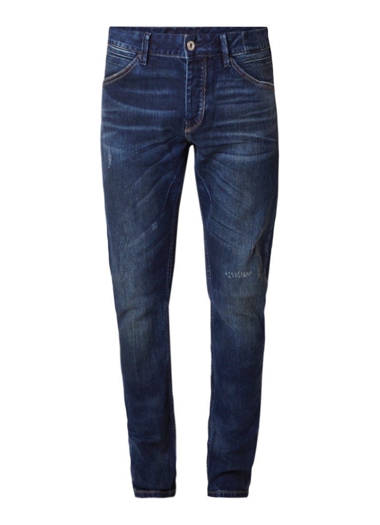 Scotch and Soda Phaidon mid rise slim fit jeans met destroyed detail