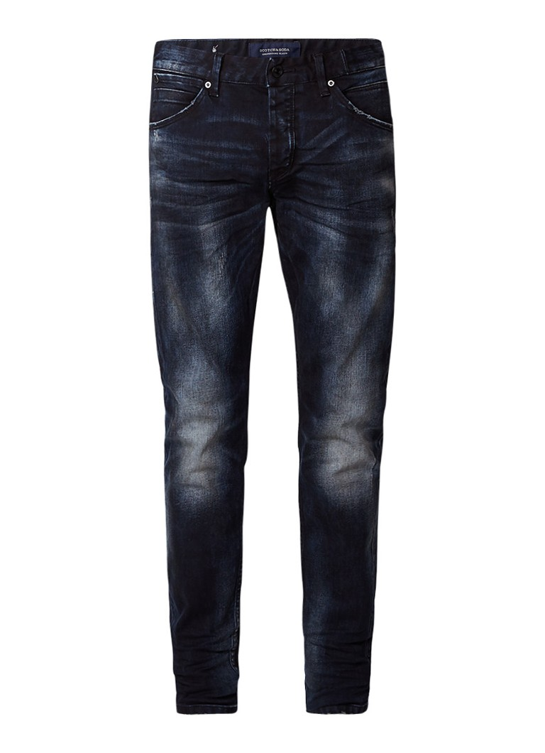 Scotch and Soda Phaidon Sander slim fit jeans met faded look