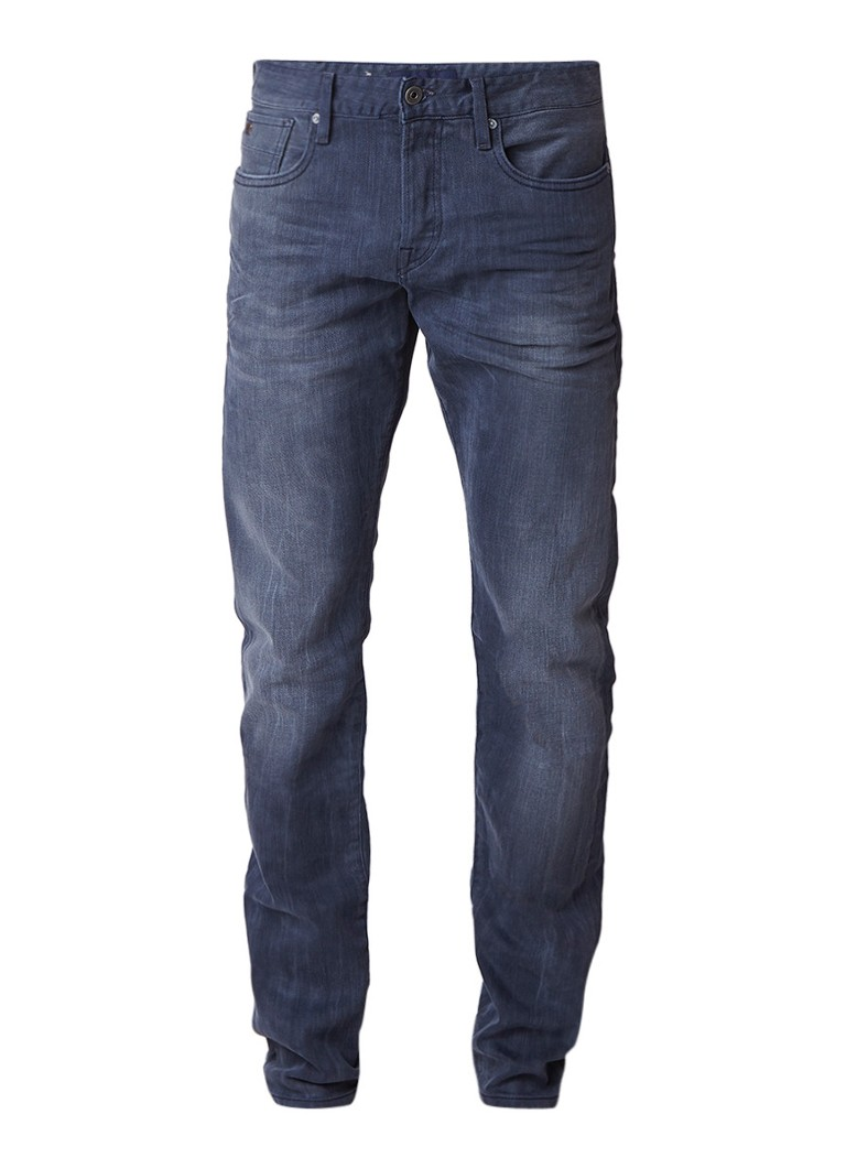Scotch and Soda Ralston mid rise slim fit jeans met faded look