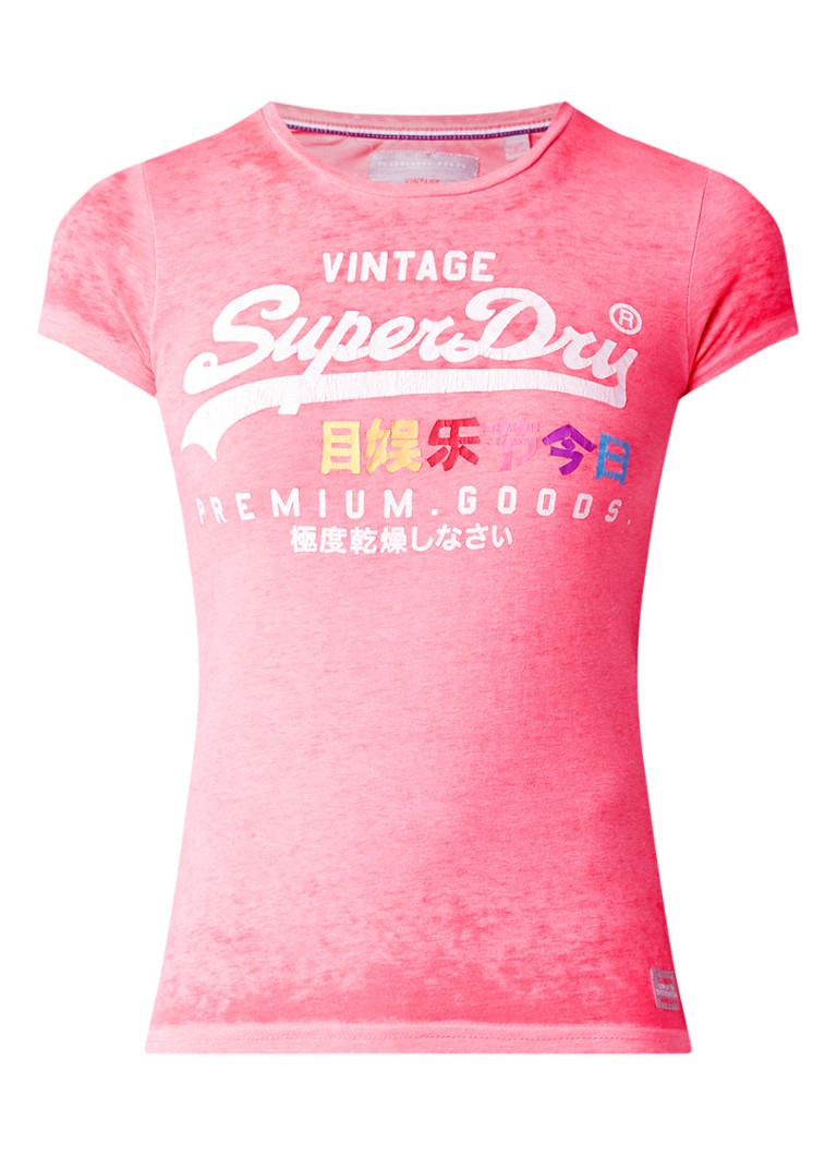 Superdry Entry gemêleerd T-shirt met logoprint