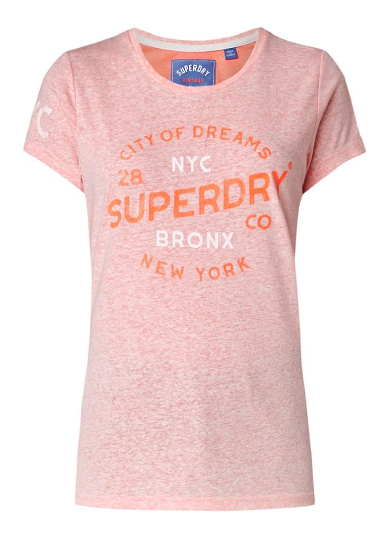 Superdry City of Dreams T-shirt met tekstprint