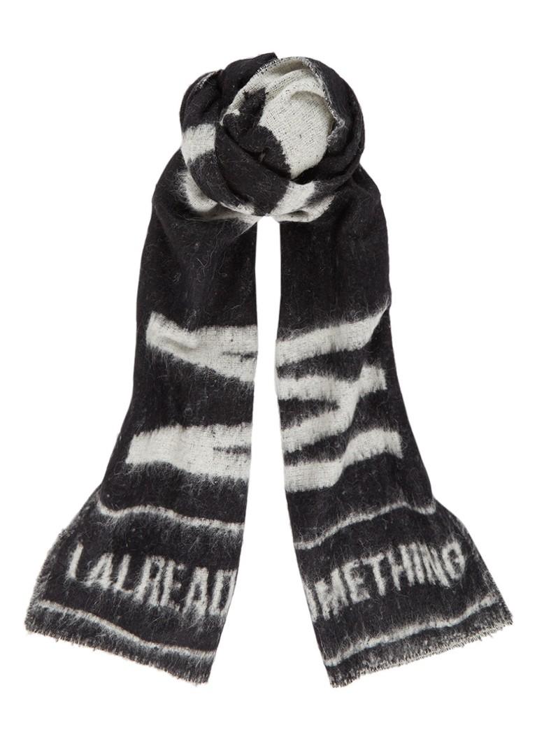 McQ Alexander McQueen Sjaal in wolblend met dessin 230 x 50 cm