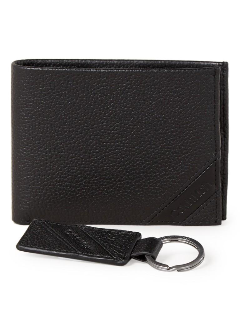 Calvin Klein Pebble giftbox met portemonnee en sleutelhanger